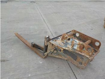 Strickland Fork Frame & Forks 65mm Pin to suit 13 Ton Excavator - fourches